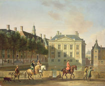 The Mauritshuis from the Langevijverburg by Gerrit Adriaensz Berckheyde