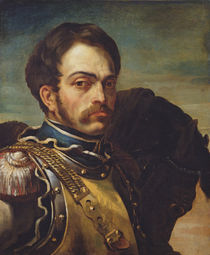 Carabinier Officer with his Horse by Theodore Gericault
