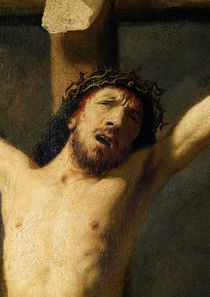 Christ on the Cross, detail of the head von Rembrandt Harmenszoon van Rijn