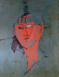 The Red Head, c.1915 by Amedeo Modigliani