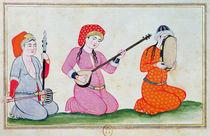 Musicians, from 'Costumes de la Cour et de la Ville de Constantinople' von Ottoman School