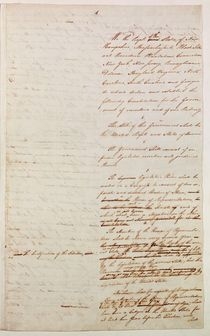 First draft of the Constitution of the United States by American School