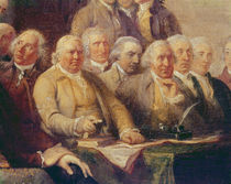 Drafting the Declaration of Independence von John Trumbull