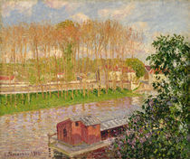 Sunset at Moret-sur-Loing, 1901 by Camille Pissarro