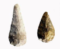 Two blades, from Saint-Acheul by Paleolithic