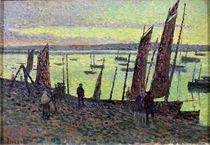 Boats at Camaret, 1893 von Maximilien Luce