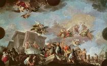 Christopher Columbus Offering the New World to the Catholic Kings by Antonio the Elder Gonzalez Velazquez