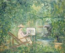 Woman Painting in a Landscape von Pierre Laprade