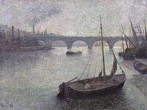 View of the Thames, 1893 von Maximilien Luce