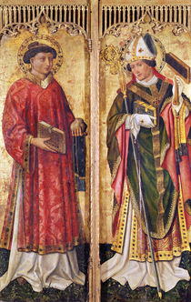 St. Stephen and St. Blaise by Swiss School