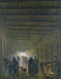 Corridor of the Saint-Lazare Prison in 1793 von Hubert Robert