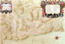 Ms 988 volume 3 fol.33 Map of the town and citadel of Bellisle von Sebastien Le Prestre de Vauban