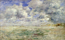 Stormy Sky above the Beach at Trouville by Eugene Louis Boudin