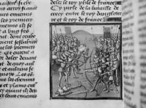 The Battle of Crecy in 1346 from Froissart's Chronicles by French School