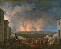 The Bombardment of Vienna by the French Army by Baron Louis Albert Bacler d'Albe