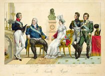 Louis XVIII and his Family von French School