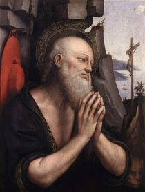 The Penitent St. Jerome by Giovanni Pedrini Giampietrino