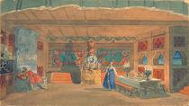 Stage design for Rimsky-Korsakov's opera the 'The Tsar's bride' von Boris Mihajlovic Kustodiev