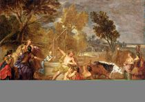 Moses and the Daughters of Jethro by Nicolas Bertin