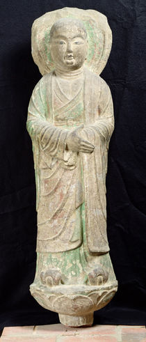 Monk, from Dunhuang, Gansu Province von Chinese School