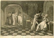 Assassination of Deputy Louis-Michel Le Peletier de Saint-Fargeau by Claude Louis Desrais