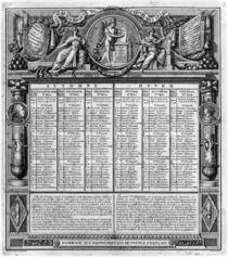 Republican calendar, 22nd September 1793 von Francois Maria Isidore Queverdo