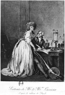 Antoine Laurent Lavoisier and his wife Marie Anne Paulze von Georges Ernest Profit