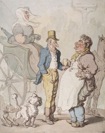 Slender Billy, Travellers taking refreshment by Thomas Rowlandson