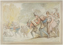 Soldiers on a March, 1805 by Thomas Rowlandson