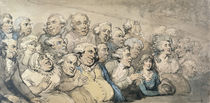 An Audience at Drury Lane Theatre by Thomas Rowlandson