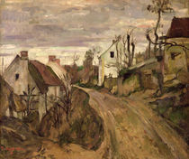 The Village Road, Auvers, c.1872-73 by Paul Cezanne
