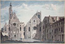 Facades of the Churches of St. Genevieve and St. Etienne du Mont von Angelo Garbizza