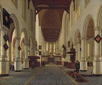 Interior of the Oude Kerk, Delft, c.1660-70 by Hendrik Cornelisz. van Vliet