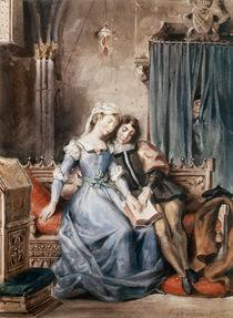 Paolo Malatesta and Francesca da Rimini von Ferdinand Victor Eugene Delacroix