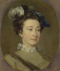 Girl in a Plumed Hat, c.1740 by William Hogarth