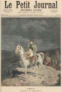 1814, from 'Le Petit Journal' von Jean-Louis Ernest Meissonier