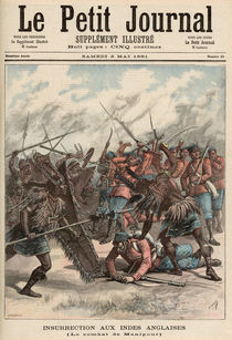 The Battle of Manipur, from 'Le Petit Journal' by Fortune Louis & Meyer, Henri Meaulle