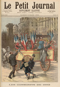 The Conscripts of 1892, from 'Le Petit Journal' von Fortune Louis & Meyer, Henri Meaulle
