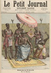 Behanzin King of Dahomey, from 'Le Petit Journal' by Fortune Louis & Meyer, Henri Meaulle
