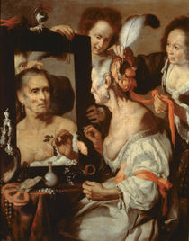 Old Coquette by Bernardo Strozzi