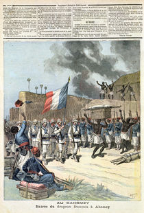 The French Flag Entering Abomey by Henri Meyer