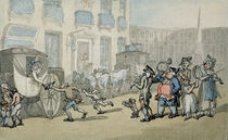 Matthew Bramble's Trip to Bath: Arrival at Bath von Thomas Rowlandson