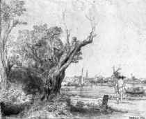 View of Omval, near Amsterdam by Rembrandt Harmenszoon van Rijn