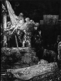 The Descent from the Cross with a Torch von Rembrandt Harmenszoon van Rijn