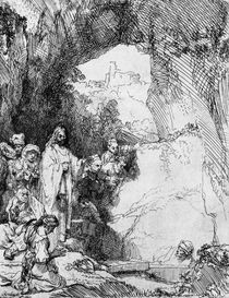 The Small Raising of Lazarus von Rembrandt Harmenszoon van Rijn