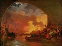 The Great Fire of London, c.1797 by Philip James de Loutherbourg