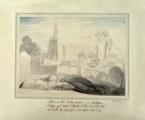 The Widow Embracing her Husband's Grave by William Blake
