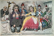 Louis XVI Taking Leave of his Wife and Family von James Gillray