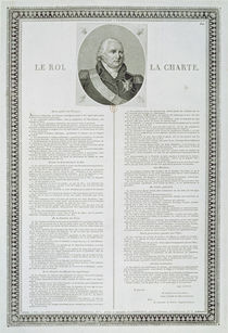 Charter of Louis XVIII 1814 by French School