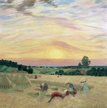 The Harvest, 1914 von Boris Mikhailovich Kustodiev